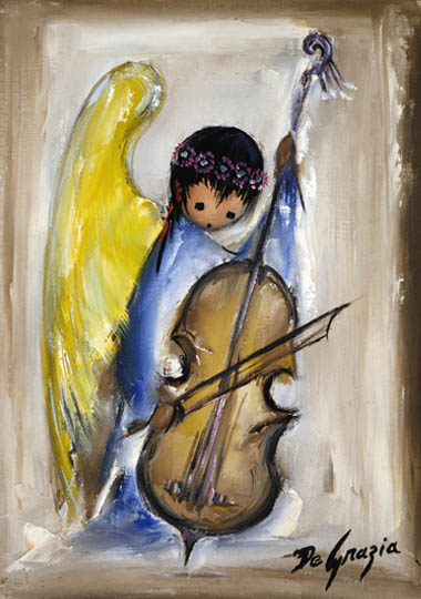 Degrazia gallery prints for Angel paintings for sale