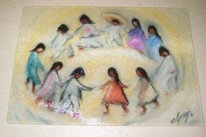 DeGrazia Los Ninos Cutting Board
